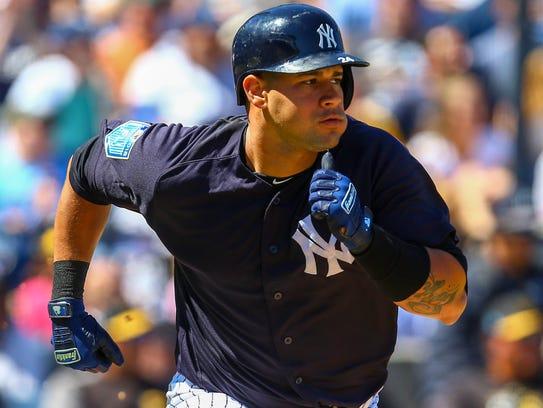 Mar 15, 2018; Tampa, FL, USA; New York Yankees catcher