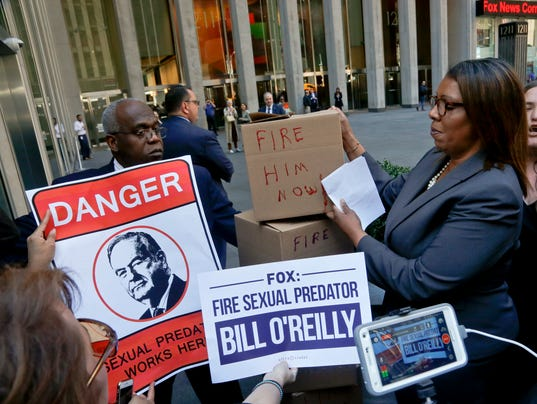 Bill O'Reilly protesters