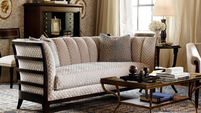 Alexa Hampton's 10th anniversary collection for Hickory Chair has edgier lines, including the Zachary Sofa.
