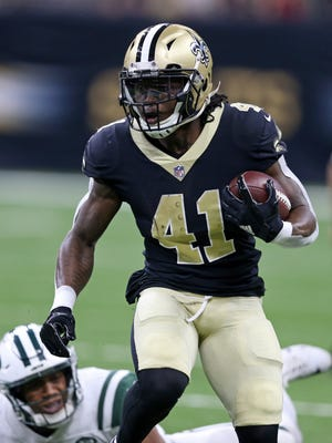 Saints running back Alvin Kamara finished as the No. 4 fantasy running back in his rookie season with eight rushing touchdowns and five receiving scores.