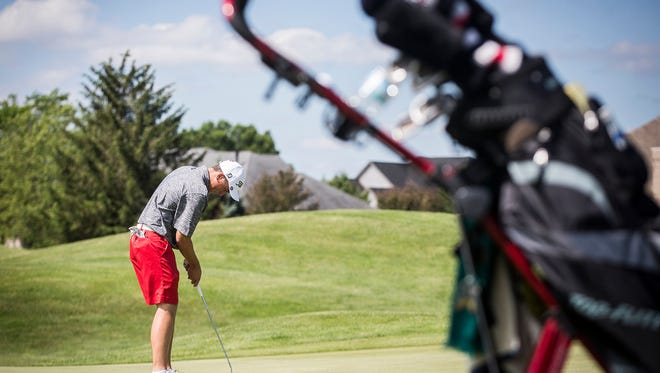 Richmond's Jake Miller competes in regionals at The Players Club in Yorktown Thursday, June 8, 2017.