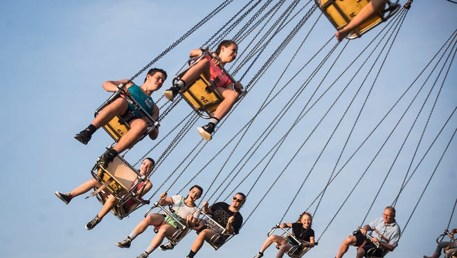 Hundreds gather at the Delaware County Fair for the Midway and motorsport events at the Grandstand. Hundreds gather at the Delaware County Fair for the Midway and motorsport events at the Grandstand.