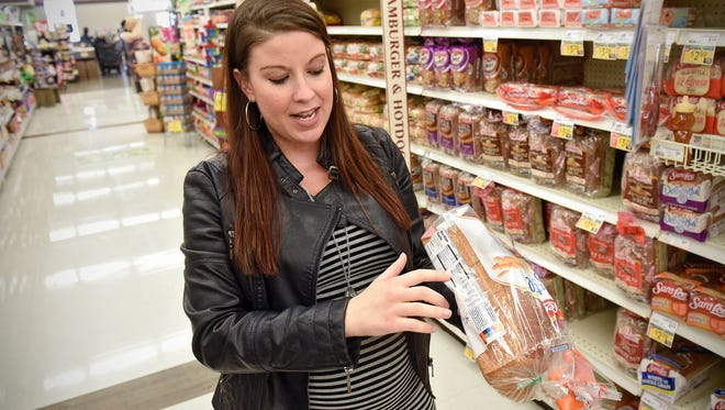 Lead dietician Ashley Kibutha talks about nutrition information used as a basis for Coborn's new nutritional information program called Dietician's Choice Tuesday, Oct. 25 at the Coborn's Marketplace on Pinecone Road in Sartell.