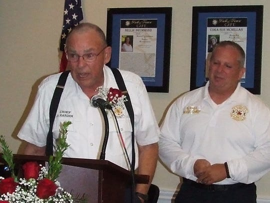 From left, Houston County Fire Department Chief David