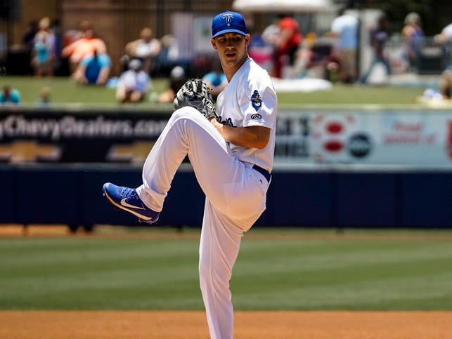 Former Vanderbilt pitcher Walker Buehler, a 2015 first-round pick, recently was called up from the Double-A Tulsa Drillers.
