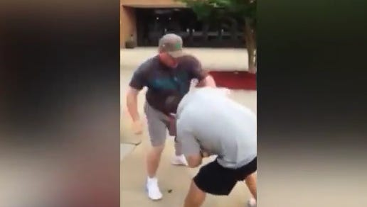 Two softball dads from the Jersey Shore are charged after a fistfight.