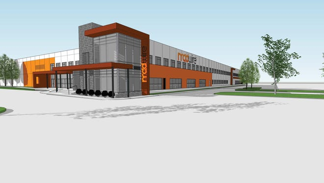 A rendering of Madwire's new office building at 3405 S. Timberline Road, Fort Collins. The marketing software and service company will retain its space at the Hewlett Packard campus off Harmony Road.