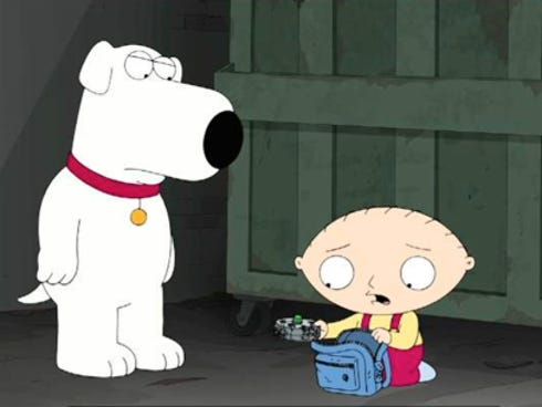 Stewie and Brian the dog in the Nov. 24 episode.