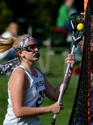 Anna Linthicum led York Catholic to its 19-6 win over Berks Catholic in the first round of the District 3 2-A girls' lacrosse playoffs with three goals and four assists. John A. Pavoncello photo