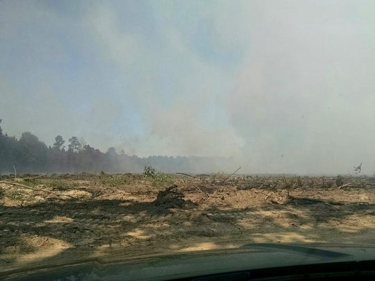 A logging company has been clearing about 40 acres of land and burning the cleared piles in Bossier Parish, which caused smoke to fill the air in Shreveport-Bossier on Tuesday.