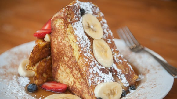 Treat yourself to Sabrina Cafe's stuffed French Toast,, a big driver of the lines every weekend at this popular brunch spot in Collingswood.
