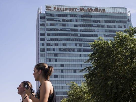 The stock of Phoenix-based Freeport-McMoRan closed