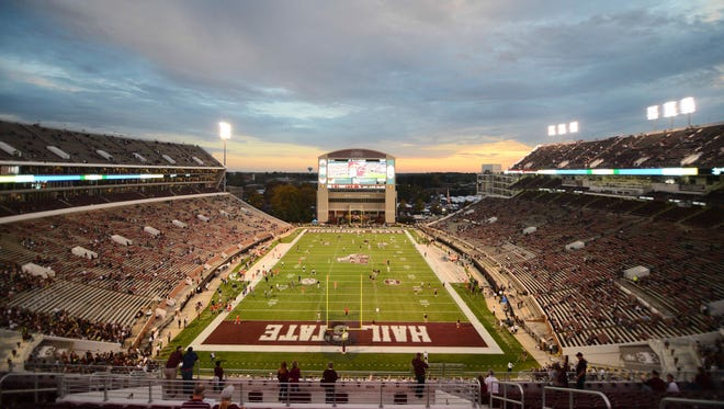The college football season kicks off for Mississippi State at Davis Wade Stadium on Sept. 3 when it hosts South Alabama.