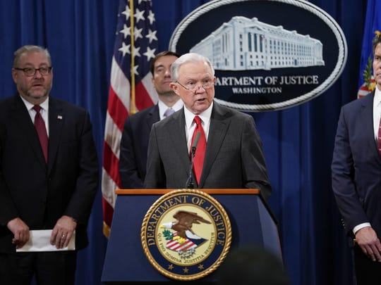 Attorney General Jeff Sessions discusses the charges against China on Thursday.