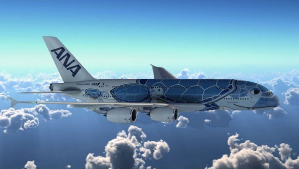 This image provided by Airbus shows the 'Flying Honu'