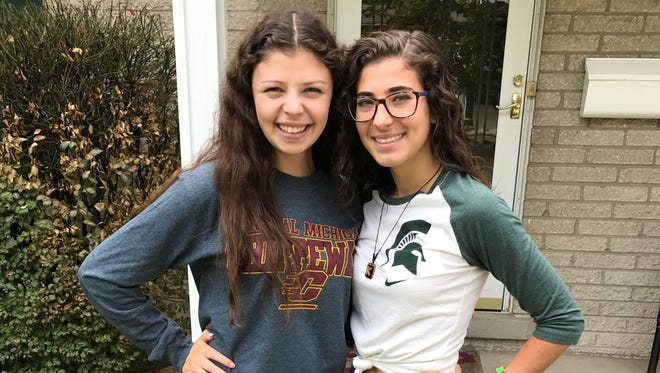 Megan Argenta, left, is attending Central Michigan University while her friend Kaylee McCarthy is headed to Michigan State University. Both graduated this spring from Livonia Stevenson High School.