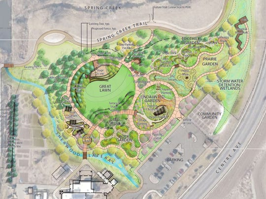 A updated master plan for Gardens on Spring Creek includes new gardens and a Great Lawn that would have large events and outdoor concerts.