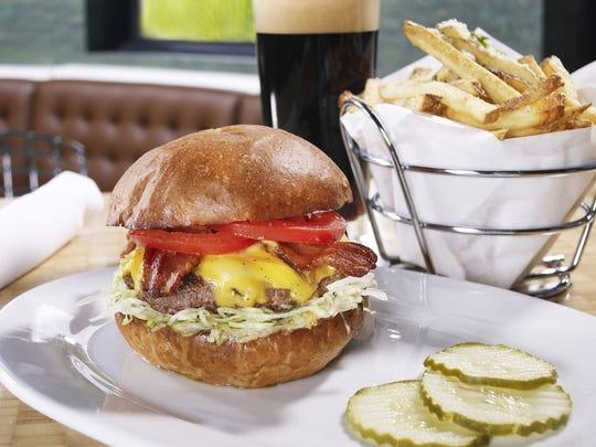 A burger at Zinburger.