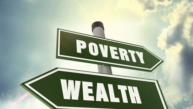 Direction of wealth or poverty