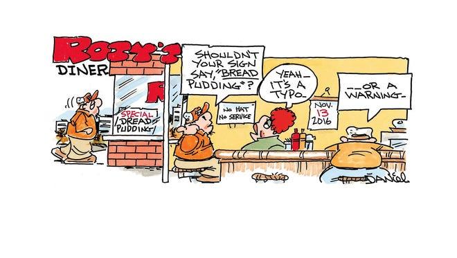 Charlie Daniel's editorial cartoon for Sunday, Nov. 13, 2016.