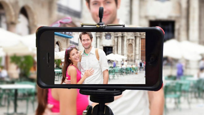 The Monopod from iStabilizer can be extended more than three feet, providing a better range for a group shot that, of course, includes you.