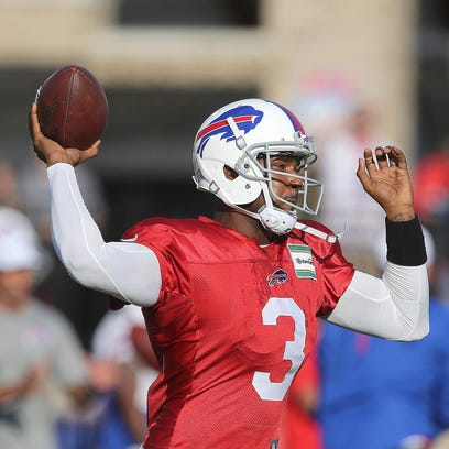 Bills quarterback EJ Manuel is battling for the starting