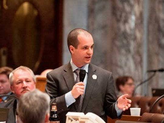 State Rep. Jonathan Brostoff (D-Milwaukee) speaks on the floor of the state Assembly.