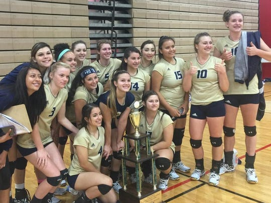 Ruidoso takes home the traveling sportsmanship award at the Peyton Chavez volleyball tournament in Portales Oct. 3.
