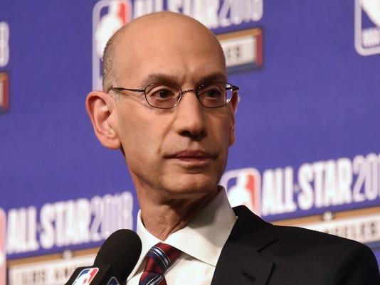 USP NBA: ALL STAR GAME-COMMISSIONER PRESS CONFEREN S BKN USA CA