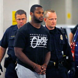 Arizona Cardinals running back Jonathan Dwyer was arrested on suspicion of aggravated assault.