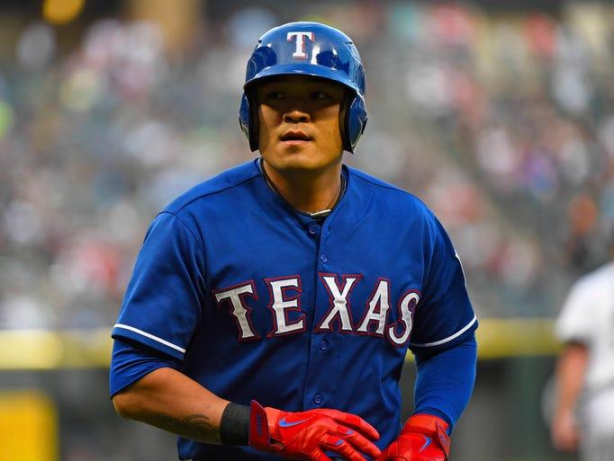 Rangers left fielder Shin-Soo Choo: Elbow surgery