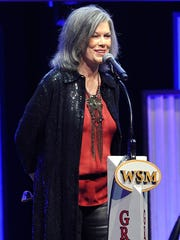 K.T. Oslin performs during Joe Galante's roast at the Grand Ole Opry House on Feb. 10, 2015.