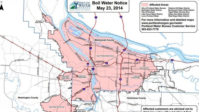 Boil Water Notice map.