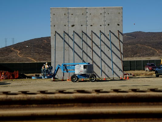 Prototypes Of President Trump's Proposed Border Wall Tested Along Mexico / U.S. Border