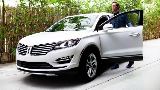 The all-new 2015 Lincoln MKC small premium utility vehicle, shown with spokesperson Matthew McConaughey, is performance-minded, luxuriously crafted and technology-savvy. Pricing starts at $33,995.