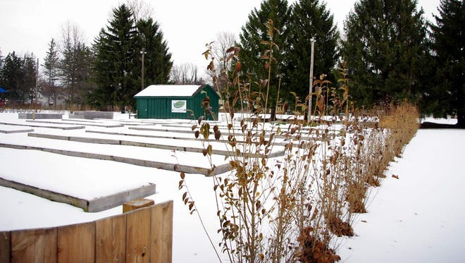 The Perinton Community Garden is snow-covered now, but will come alive this year to provide a variety of benefits to residents.