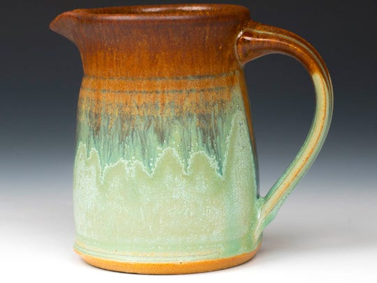 Clay pitcher by Tony and Renee Gebauer of TR Pottery,