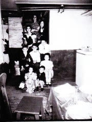Nicole Librandi's photo of her cousins taken in 1950 across from The Alcove. They are, top to bottom: Sarah, Adrienne, Toni, Nicholas, Robert, Louie, Kathy, Susie and Anthony.