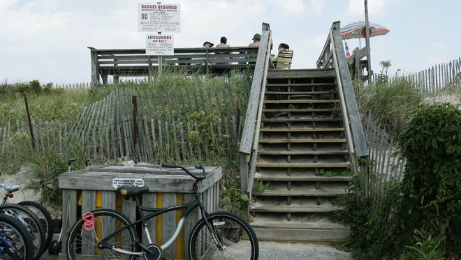 A beach access point in Bay Head is shown in this 2009 photo.