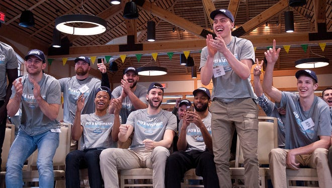 The University of Vermont men's basketball team reacts to learning it will be a No. 13 seed in the upcoming NCAA tournament on Sunday night at UVM. The Catamounts will face fourth-seeded Purdue on Thursday in Milwaukee, Wisconsin.