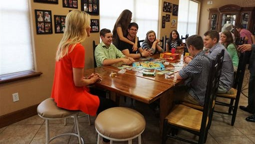 "This photo provided by FOX News shows, FOX News Channel's Megyn Kelly sitting down with the Duggar children of the TLC program ""19 Kids and Counting,"" on Wednesday, June 3, 2015. Jill and Jessa Duggar, part of the family featured in TLC's ""19 Kids and Counting, were two of the four sisters who Josh Duggar touched inappropriately a dozen years ago. They talked about it with Kelly in an interview set to air Friday night, June 5, 2015.  (FOX News via AP)"