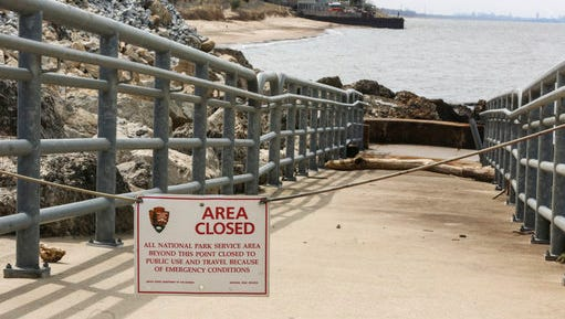 The National Park Service has closed beaches around a chemical spill on Lake Michigan Thursday, April 13, 2017. Federal officials are awaiting more test results to determine whether a potentially carcinogenic chemical entered Lake Michigan during a wastewater spill at a U.S. Steel plant in northern Indiana.