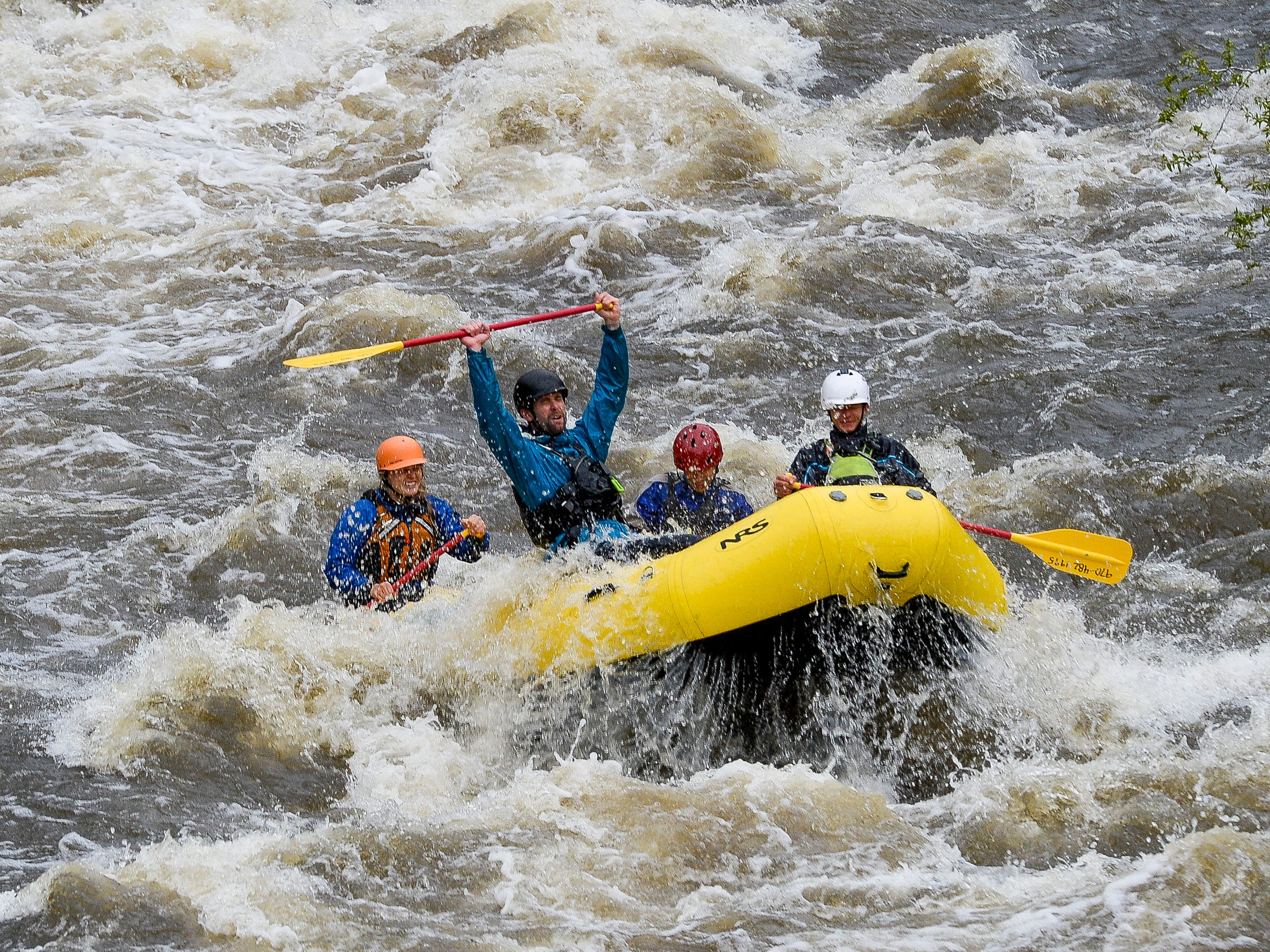 Rafters from A Wanderlust Adventure head down the Poudre