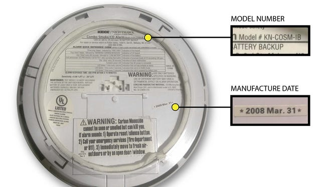 The U.S. Consumer Product Safety Commission issued a recall for its Kidde NightHawk combination smoke/carbon monoxide (CO) alarms. Consumers can find the information needed by Kidde for their replacement on the back of the unit.