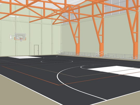 Basketball courts are expected to anchor the center