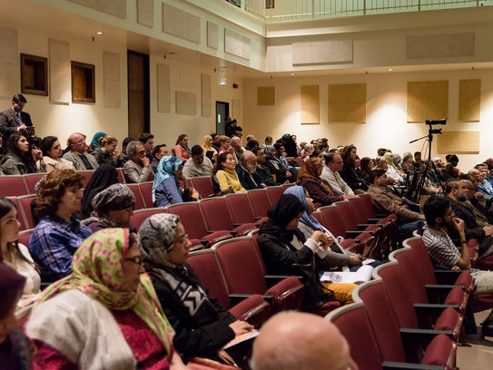 There was a good attendance at the Muslim Community