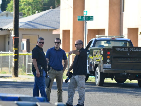 One dead in Visalia as police scour for clues and suspects.
