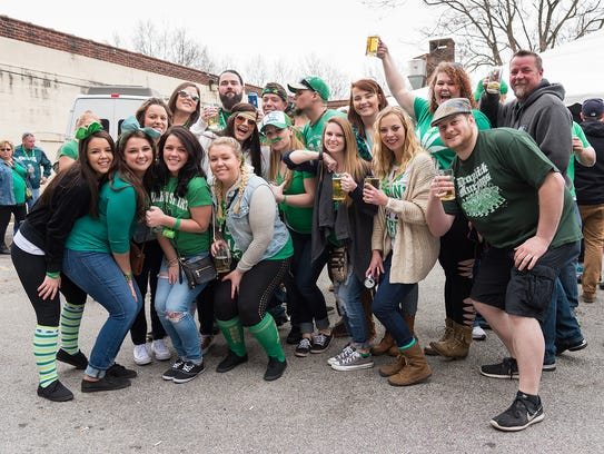 The hooley party after the Wilmington St. Patrick's