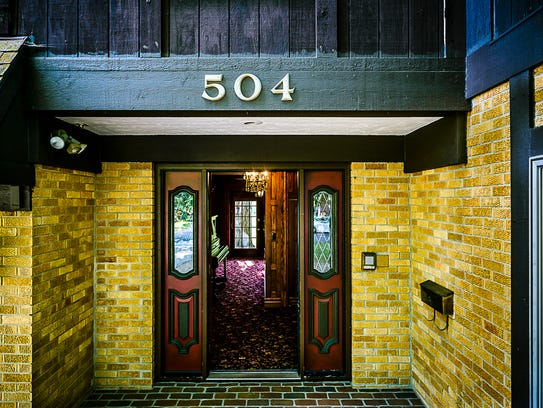 The entrance to the in the English Tudor home at 504