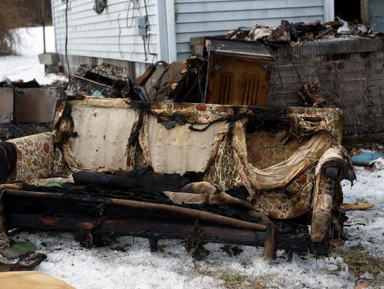 Fire damaged the front rooms of a house at 10740 South